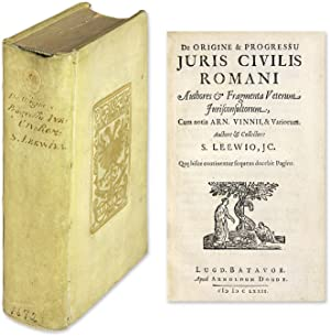 De Origine & Progressu Juris Civilis Romani,: Van Leeuwen, Simon;