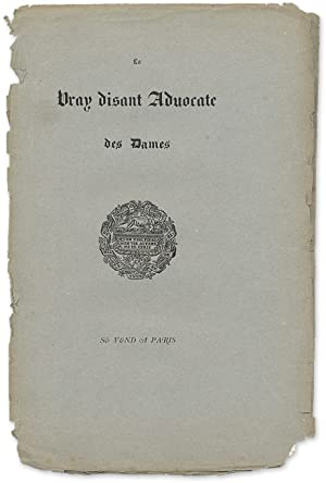 a Vray Disant Advocate des Dames: Marot, Jean, Attributed; Belin, Laurent, Attribut