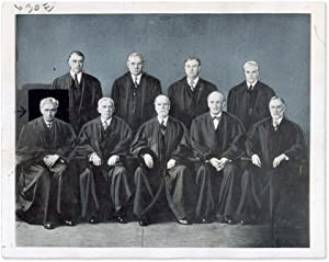 "9"" x 7"" Black-and-White Press Portrait Photograph of the Hughes Court: Supreme Court, ..."