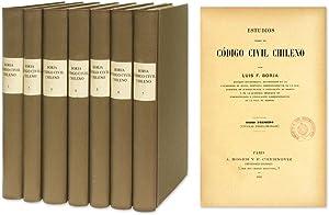 Estudios Sobre el Codigo Civil Chileno. 7 vols. complete set: Borja, Luis Felipe