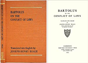 Bartolus on the Conflict of Laws: Beale, Joseph H., (translator)