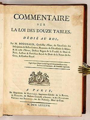 Commentaire sur la Loi des Douze Tables: Bouchaud, Mathieu-Antoine