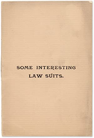 Some Interesting Law Suits: Recent Legal Decisions on Questions.: Title Guarantee and Trust Company