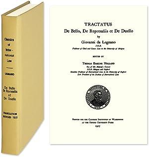 De Bello, de Represaliis et de Duello. 1995 Reprint of the 1477 ed: Legnano, Giovanni da. ...