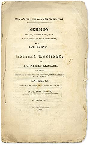 Wicked Men Ensnared by Themselves: A Sermon Preached, December 16.: Sprague, William Buell