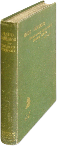Haud Immemor: Reminiscences of Legal and Social Life in Edinburgh.: Stewart, Charles