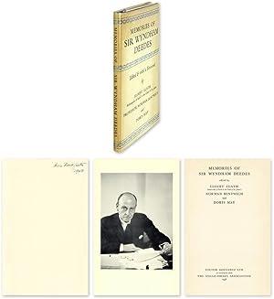 Memories of Sir Wyndham Deedes: Frankfurter, Felix; Elath, Elihu, Bentwich, Norman
