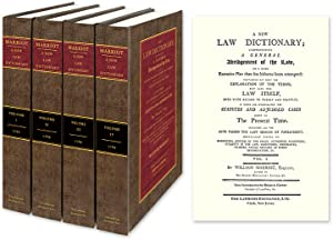 A New Law Dictionary; Comprehending A General Abridgment of the Law.: Marriott, William