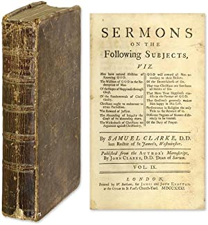 Sermons on the Following Subjects, A Copy Owned by William Edmond.: Clarke, Samuel; Edmond, William