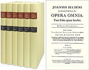 Opera Omnia. The Complete Works. 3 Vols.: Selden, John. David