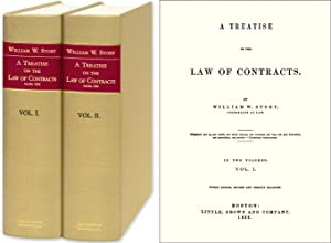 A Treatise on the Law of Contracts. 4th ed. 2 Vols: Story, William W.