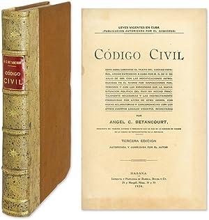 Codigo Civil, Esta Obra Contiene el Texto del Codigo Espanol, Hecho.: Betancourt, Angel C.