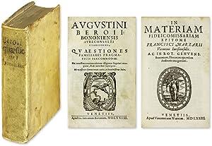 Quaestiones Familiares: Pragmaticis Percommodae [Bound with] In.: Bero, Agostino; Marzari, ...