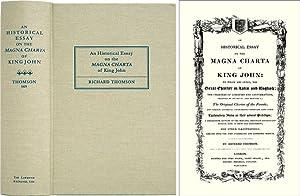 An Historical Essay on the Magna Charta: Thomson, Richard