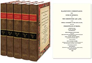 Blackstone's Commentaries With Notes of Reference to the Constitution: Blackstone. Tucker's; ...