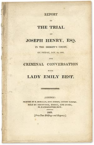 Report of the Trial of Joseph Henry, Esq, In the Sheriff's Court.: Trial; Henry, Joseph, ...