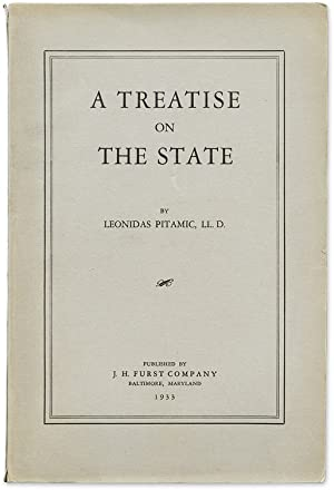 A Treatise on the State. From the Library of Edward Dumbauld: Pitamic, Leonidas