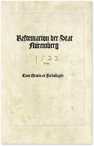 Reformacion der Stat Nuremberg: Nuremberg; Durer, Albrecht
