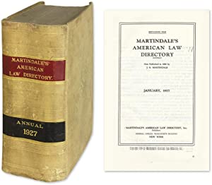 Martindale's American Law Directory (Annual). January, 1927: Legal Directory