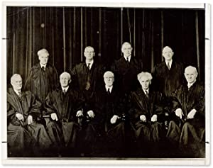 "7"" x 9"" Black-and White Portrait Photograph of the Hughes Court: Supreme Court, United ..."