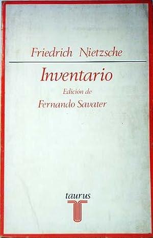 INVENTARIO. Edición de Fernando Savater.: Nietzsche, Friedrich.