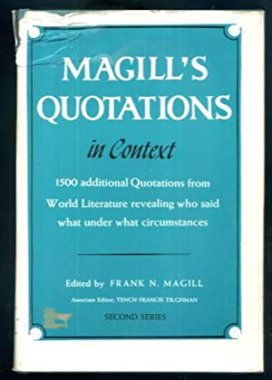 Magill's Quotations in Context: Second Series: Frank N. Magill