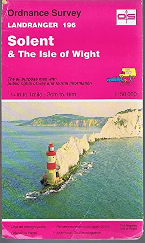 Solent and The Isle of Wight Landranger Sheet 196 1:50000