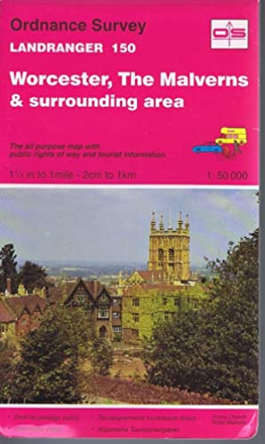 Worcester and The Malverns Sheet 150 1:50000 Landranger Series