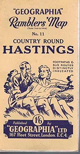 Geographia Ramblers' Map No.11 Country Round Hastings
