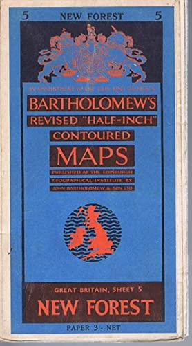 New Forest Bartholomew's Revised Half-Inch Contoured Maps: Sheet 5 New Forest