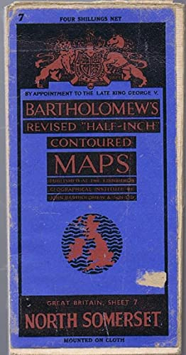 North Somerset Bartholomew's Revised Half-Inch Contoured Maps: Sheet 7 North Somerset