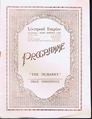 The Dubarry: Liverpool Empire Programme 1933: Paul Knepler and