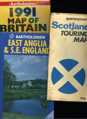 UK Road Maps x3: Scotland Touring Map; Map of Britain; East Anglia & S.E. England