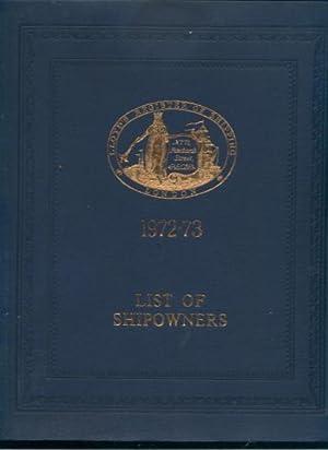 Lloyd's Register of Shipping List of Shipowners: Lloyd's Register