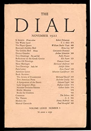 The Waste Land in The Dial November 1922.
