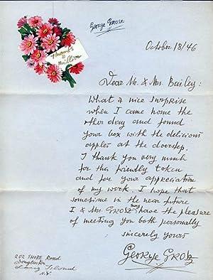 Autograph Letter Signed.: Grosz, George