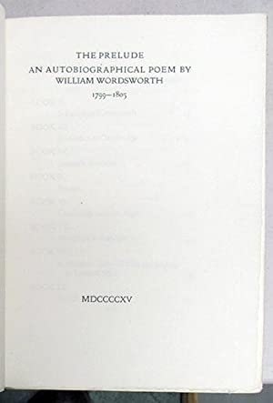 The Prelude.: Wordsworth, William