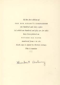 The Bon Vivant's Companion, or How to Mix Drinks.: Thomas, Professor Jerry
