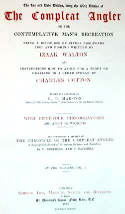 The Lea and Dove Edition, Being the: Walton, Izaak; Cotton,