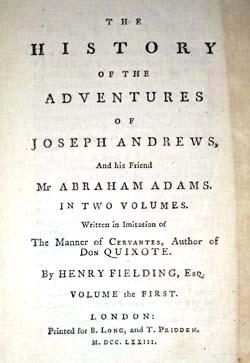 The History of the Adventures of Joseph Andrews, and His Friend Mr Abraham Adams. in Two Volumes. ...