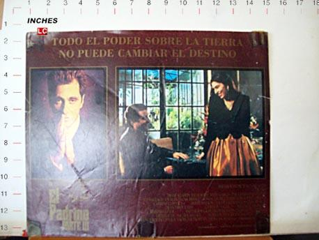 THE GODFATHER PART III MOVIE POSTER/EL PADRINO III/MEXICAN LOBBY CARD