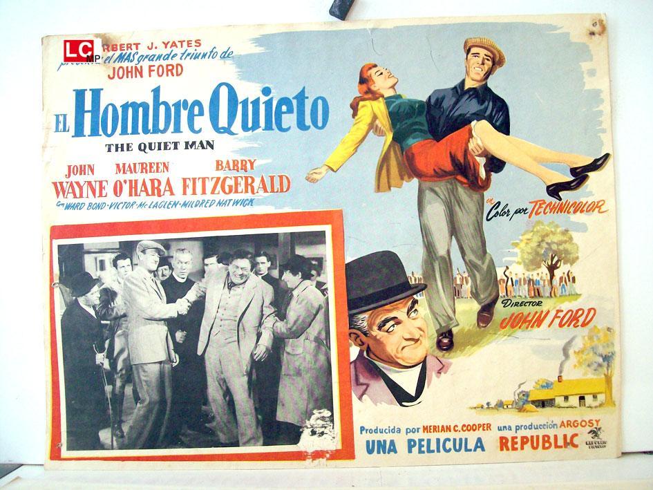 THE QUIET MAN MOVIE POSTER/EL HOMBRE QUIETO/MEXICAN LOBBY CARD
