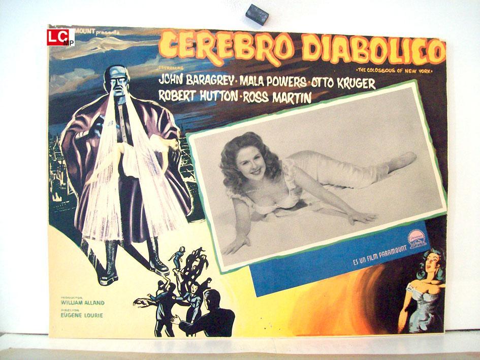 THE COLOSSUS OF NEW YORK MOVIE POSTER/CEREBRO DIABOLICO/MEXICAN LOBBY CARD