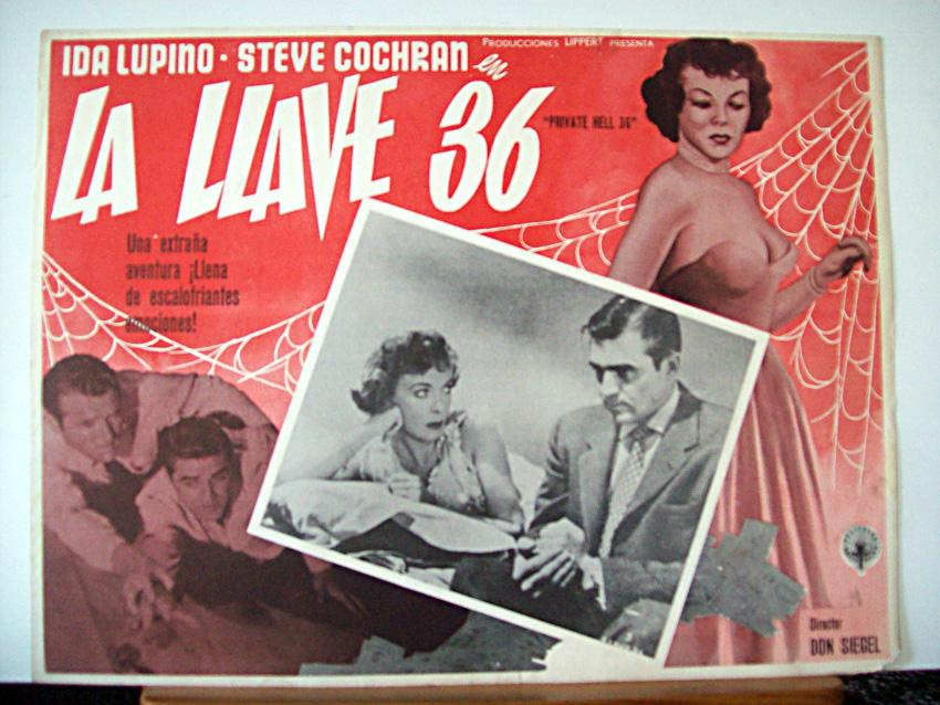 PRIVATE HELL 36 MOVIE POSTER/LA LLAVE 36/MEXICAN LOBBY CARD