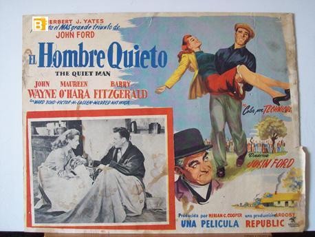 THE QUIET MAN MOVIE POSTER/EL HOMBRE TRANQUILO/MEXICAN LOBBY CARD
