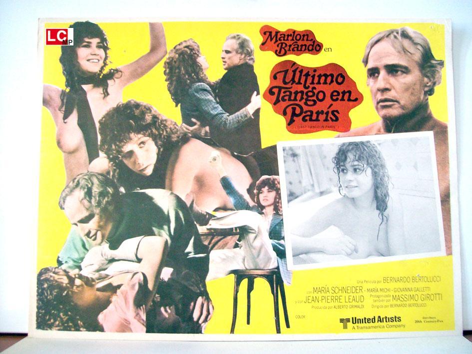 LAST TANGO IN PARIS MOVIE POSTER/EL ULTIMO TANGO EN PARIS/MEXICAN LOBBY CARD