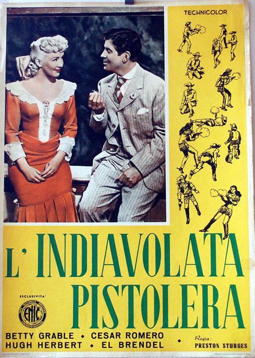The Beautiful Blonde from Bashful Bend MOVIE POSTER/L?INDIAVOLATA PISTOLERA/FOTOBUSTA