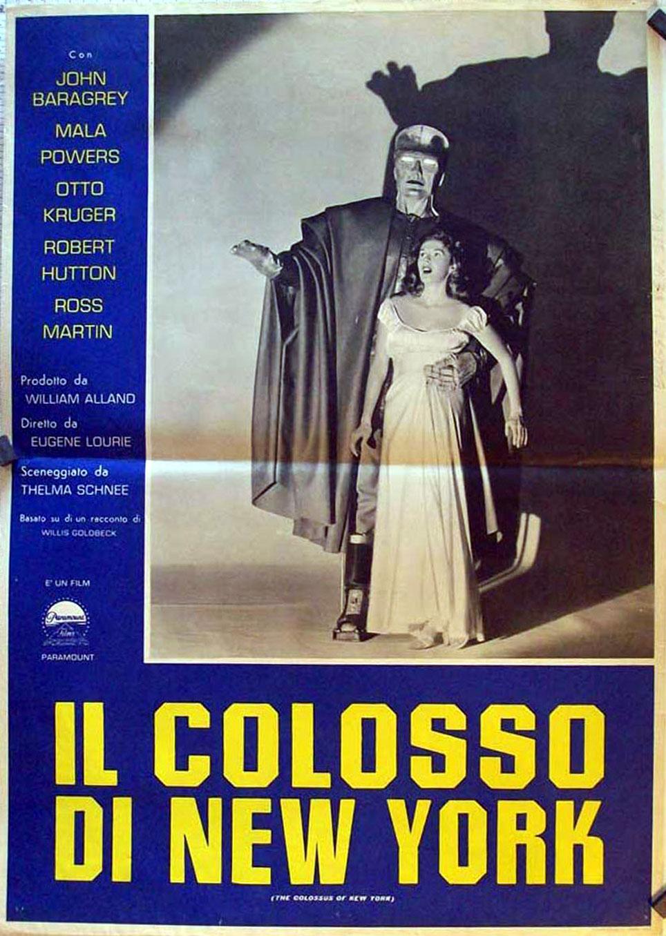 THE COLOSSUS OF NEW YORK MOVIE POSTER/IL COLOSSO DI NEW YORK/FOTOBUSTA