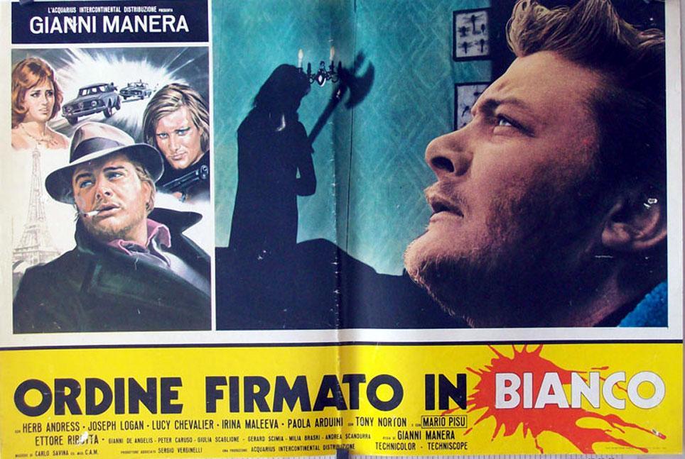 ORDINE FIRMATO IN BIANCO MOVIE POSTER/ORDINE FIRMATO IN BIANCO/FOTOBUSTA