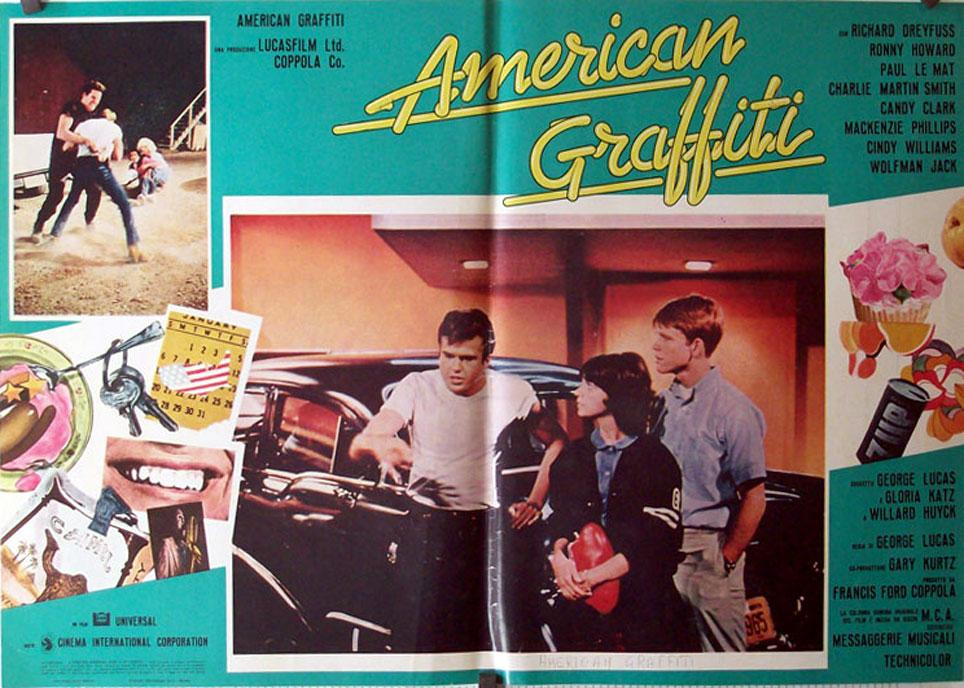 AMERICAN GRAFFITI MOVIE POSTER/AMERICAN GRAFFITI/FOTOBUSTA